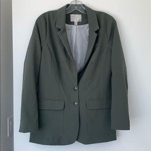 Dynamite Olive Green Oversized 90s Blazer
